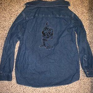 Vintage Mickey Disney Sorcerer Denim Shirt